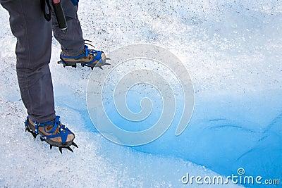 Ice Crevasse - Crampons - Patagonia - Chile