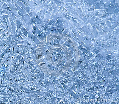 Ice crystal pattern