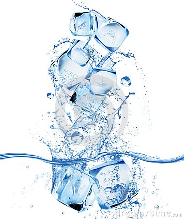 Free Ice Cube And Water Splash Royalty Free Stock Photo - 32739185