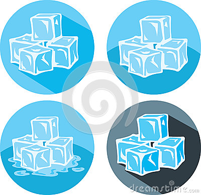 Free Ice Cube Icons Royalty Free Stock Photography - 39702207