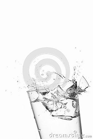Free Ice Cube Splash On Water Broken Glass Stock Image - 12105681