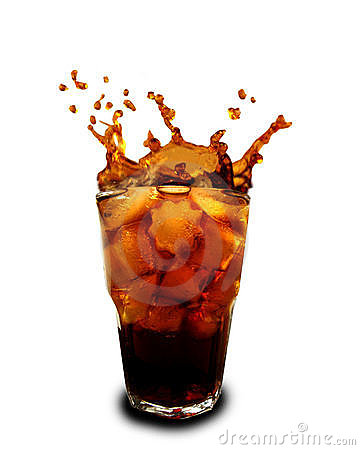 Free Ice Cubes Dropped In Glass With Cola Stock Images - 12050434