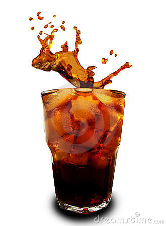 Free Ice Cubes Dropped In Glass With Cola Stock Photos - 12050443