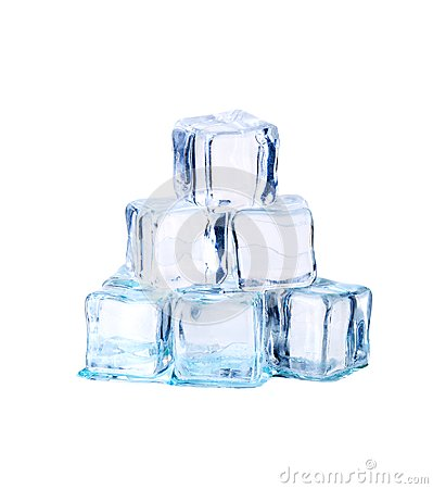 Free Ice Cubes Isolated On White. Royalty Free Stock Photography - 111467227