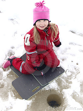 Free Ice Fishing Royalty Free Stock Photo - 13381365