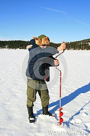 Free Ice Fishing Royalty Free Stock Image - 2035856