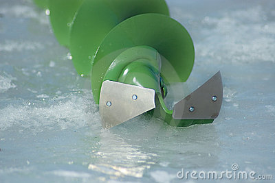 Ice fishing - auger