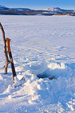 Ice-fishing hole