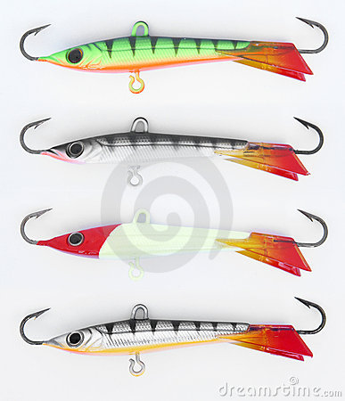 Free Ice Fishing Lures Royalty Free Stock Images - 3044279