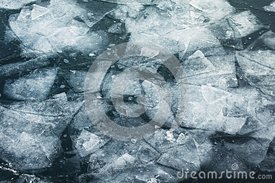 Ice floes background