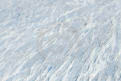 Ice flow crevasse
