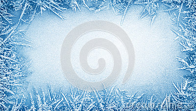 Ice frost frame Stock Photo