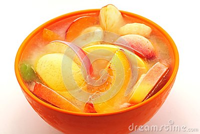 Ice fruits in bowl