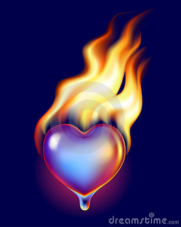 Ice heart in fire