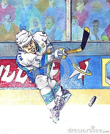 Free Ice Hockey 2008 Stock Image - 49616381