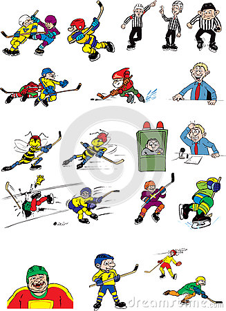 Ice hockey cartoons