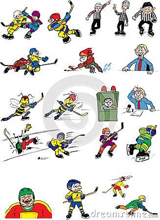Ice hockey cartoons characters