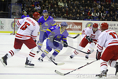 Ice-hockey game Ukraine vs Poland Editorial Photo