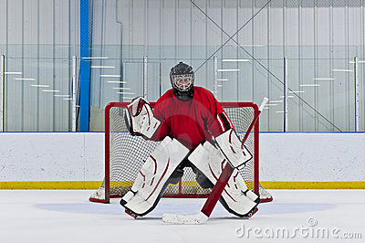Ice hockey goalie