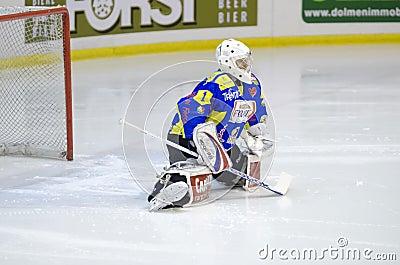 Ice Hockey Goalie Editorial Stock Image