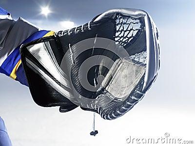 Ice hockey goalie glove
