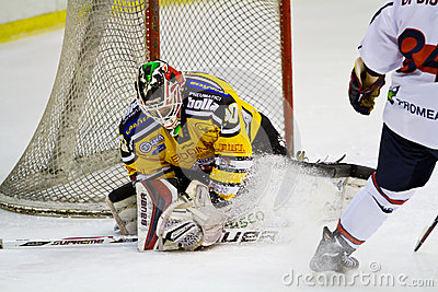 Ice hockey goalie Editorial Image