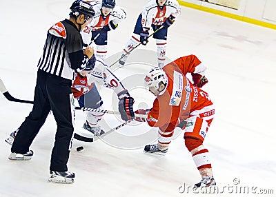 Ice hockey match Milano against Bozen Editorial Photo