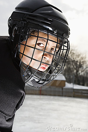 Free Ice Hockey Player Boy. Royalty Free Stock Image - 3470066