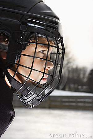 Ice hockey player boy.