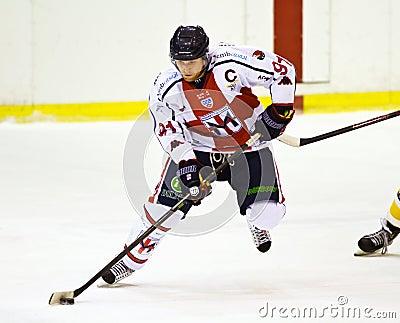 Ice hockey player Editorial Image