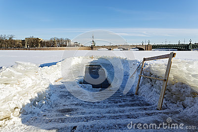 Ice-hole in Epiphany frosts