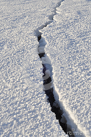 The ice on the lake Pskovskoe.