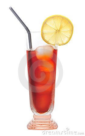 Ice lemon tea, drink, isolated