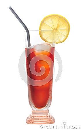 Ice lemon tea, drink, isolated