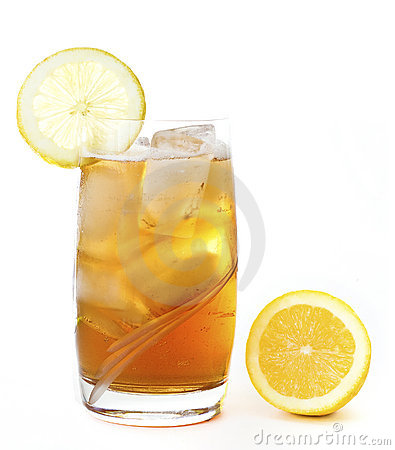 Ice lemon tea isolated