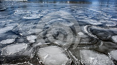 Ice Patterns in Frozen Fox River