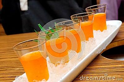 Ice plum vinegar drink