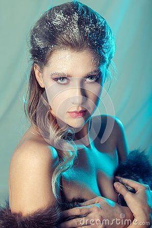 Free Ice Queen Makeup Stock Photography - 133168392
