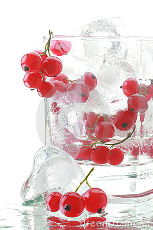 Ice with red currant fresh drink