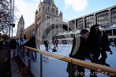 Ice rink at the Natural History Museum, London Editorial Image