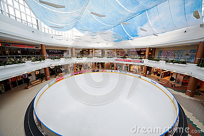 Ice rink in shopping and entertainment center Editorial Image