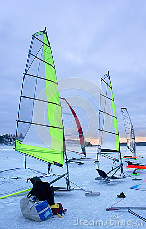 Ice sailing boats