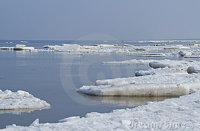 Ice on sea
