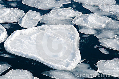 Ice into the sea