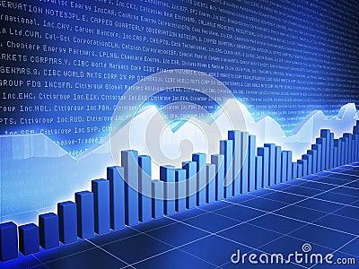 Ice Series Stock Chart with Random Data