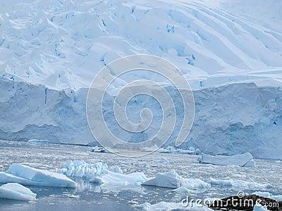 Ice shelf in Antarctica
