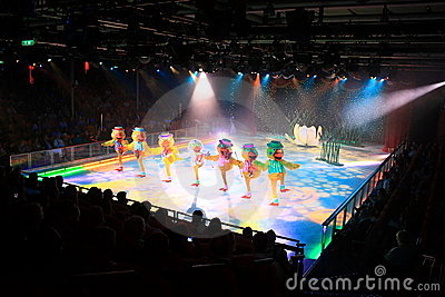 Ice show onboard the Oasis of the seas Editorial Stock Image