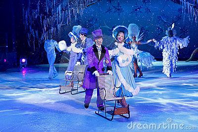 Ice show performance Editorial Photo