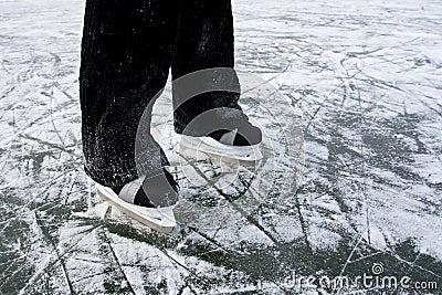 Ice skates background.