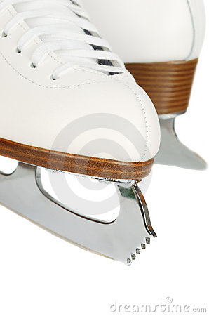 Free Ice Skates Blades Closeup. Stock Images - 9528464